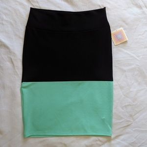 LuLaRoe Cassie NWT Color Block Pencil Skirt XL
